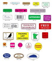 1000 Custom Labels, Printed Small Rectangle Round Square Oval Business Stickers
