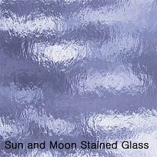 """8 X10"""" Spectrum Glass sheets 130.8 RR Pale Blue Rough Rolled Stained Glass Sheet"""