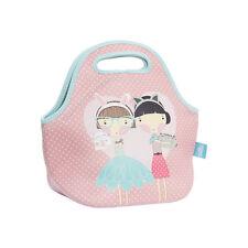NEW Spencil Lulu & Pearl Girls Cats Neoprene School Lunch Bag with zip & handles