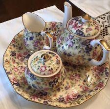 Golden Crown E&R, England, Chintz Breakfast/Tea Set