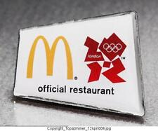 OLYMPIC PINS 2012 LONDON ENGLAND SPONSOR MCDONALDS OFFICIAL RESTAURANT LOGO