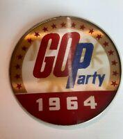 Vintage 1964 GOP Republican Party Pinback Button 2.5 Inch Diameter By...
