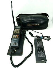 Vintage 90s Motorola Cellular Mobile Brick Phone w/ Transmitter Case SCN2395A
