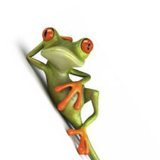 Funny Car Stickers 3D Green Lying Frog Truck Window Decal Sticker Accessories