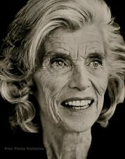 1995 Vintage EUNICE KENNEDY SHRIVER Philanthropist By HERB RITTS Photo Art 11x14
