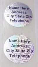 100 Customized SS 20 mm Round Hologram Security Protection Label Sticker Seals