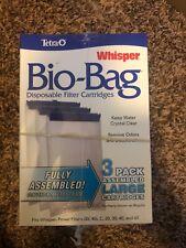 Tetra Whisper Bio-Bag Disposable Filter Cartridge for Aquariums 6 PACK LARGE