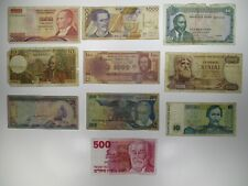 Mixed Lot of 10 Large Banknotes Circulated World Paper Money Collections & Lots