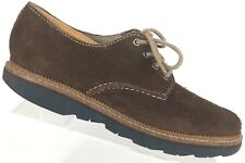 Clarks Frelan Walk Brown Suede Oxfords shoes Sz 7.5M Style 26102923