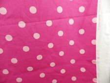 John Lewis Spot Polka Dot Curtain Panama Fabric Remnant off cut two tone Pink