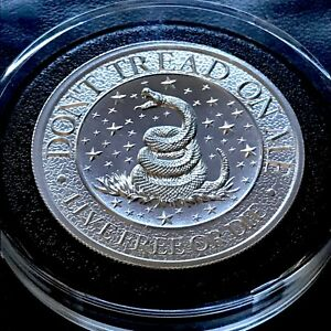 2 oz Silver High Relief Round - Don't Tread on Me - SKU#168656