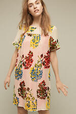 NWT Anthropologie Flower Market Swing Dress, by Maeve - Red motif, size XS P