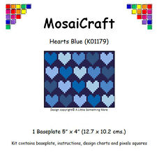 MosaiCraft Pixel Craft Mosaic Art Kit 'Hearts Blue' Pixelhobby