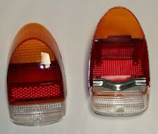 VW tail light lenses bug beetle 1968 - 1970 amber red clear pair European reprod