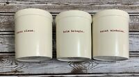 Rae Dunn Christmas Canister Holder Canister Santa Clause Red Letters Set Of 3