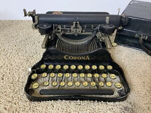 Corona 3 Antique Folding 1917 Manual Typewriter