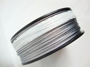 """Galvanized Wire Rope Cable, 1/8"""", 7x7, 500 ft reel"""