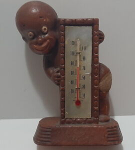 Diaper Tom, Boy with Thermometer [works], 1949 Multi Prod Inc.  Syroco Wood,