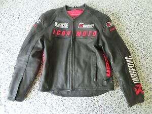 rare  ICON MOTORCYCLE LEATHER JACKET L AUTOMAG akropovic