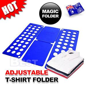 Clothes T-Shirt Folder Magic Folding Board Flip Fold Adult Laundry Organizer