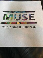 Muse Concert Program 2010 The Resistance Tour USA
