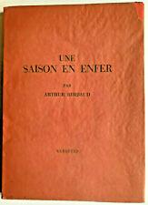Arthur Rimbaud Une saison en enfer, Arthur Rimbaud , Arthur Rimbaud  Enfer,