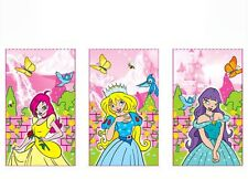 12 mini PRINCESS NOTEPAD NOTEBOOK Party Bag Filler toy GOODY pack girl gift
