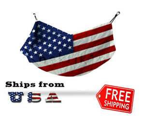 American Flag 2 Person Camping Double Hammock Outdoor Parachute Nylon LARGE