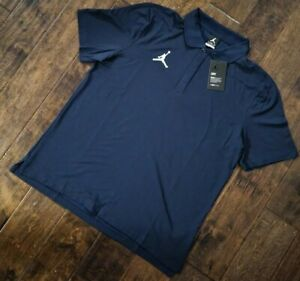 $75 Jordan Statement Polo Premium Shirt Men's Size Large Navy NEW !