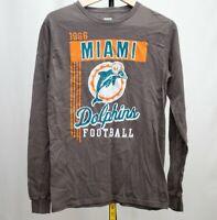 Vintage 1966 Mens Miami Dolphins Shirt Sweatshirt Sz S Long Sleeve Football NFL