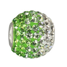 Charm SilberDream Glitzer Bead Swarovski Elements grün ICE 925 GSB008