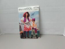 BUTTERICK 6730 CHILD'S PIRATES HALLOWEEN COSTUME PATTERN SIZE 4-5 6-7 8-10 12-14
