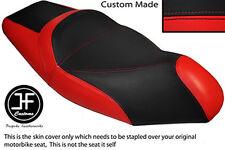 BLACK & RED VINYL CUSTOM FITS GILERA NEXUS 125 500 SEPARATE DUAL SEAT COVER
