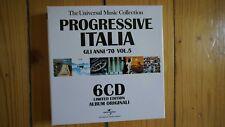 Progressive Italia Gli Anni 70 Vol.5 6 CD Box Set sehr selten rar