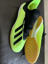 Adidas X Tango 18.3 Indoor Shoes Highlighter Yellow (Size 11.5 US)Good Condition