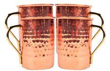 Copper Moscow Mule Mug, Vodka Ginger Beer Pint Mugs 16 Oz Set of 4