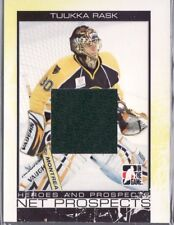 2007/08 TUUKKA RASK HEROES AND PROSPECTS JERSEY CARD SILVER VERSION