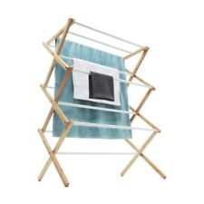 Airer with Bamboo Frame Clothes Dryer Towel Hanger Rail Rack Line Horse Laundry