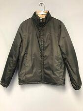 Calvin Klein Sport Men Rain Coat  Bomber Beige/Olive Green Full Zip Jacket Sz M