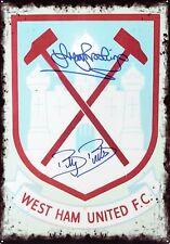 Trevor Brooking & Billy Bonds SIGNED West Ham Tunnel Sign AFTAL/UACC RD