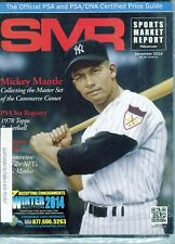 New listing DECEMBER 2014 MICKEY MANTLE COVER SMR PSA SPORTS MARKET REPORT PRICE GUIDE  MINT