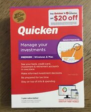 Quicken Premier LATEST VERSION Manage Investments Windows & Mac 1 Yr Membership