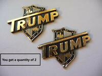 "Vintage 60's Japan ""Trump"" Guitar Headstock Badge/Emblem/Logo N.O.S. DISTRESSED"
