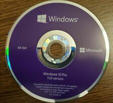Microsoft Windows 10 Pro Professional 64Bit DVD Disk, & COA Key