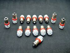 15 BRIGHT Red 5 LED Instrument Panel Dashboard Lights Bulbs BA9S 53 1815 1895 GM