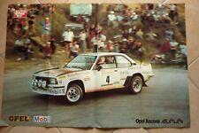Maxi Poster 1981 Campionato italiano RALLY vince OPEL ASCONA 400 CONRERO MOBIL