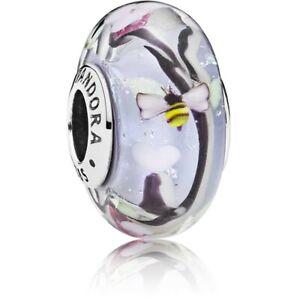 "GENUINE PANDORA ENCHANTED GARDEN MURANO GLASS CHARM 797014"""""
