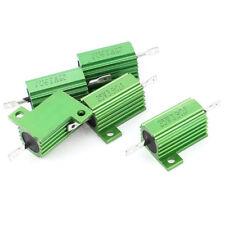 5 Pcs Green Heatsink Aluminum Housed 25Watt 3.9Ohm Wirewound Resistors CP