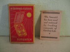 Sunwatch - compass & sundial (Outdoor Supply Company) 1920's