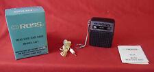 Superbe et rare mini poste récepteur radio vintage Ross 1211